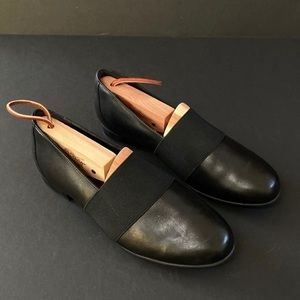 Unstructured by Clark's Leather Slip On Loafers